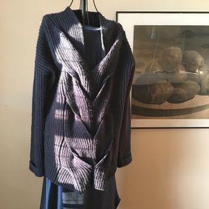 Wool blend navy sweater